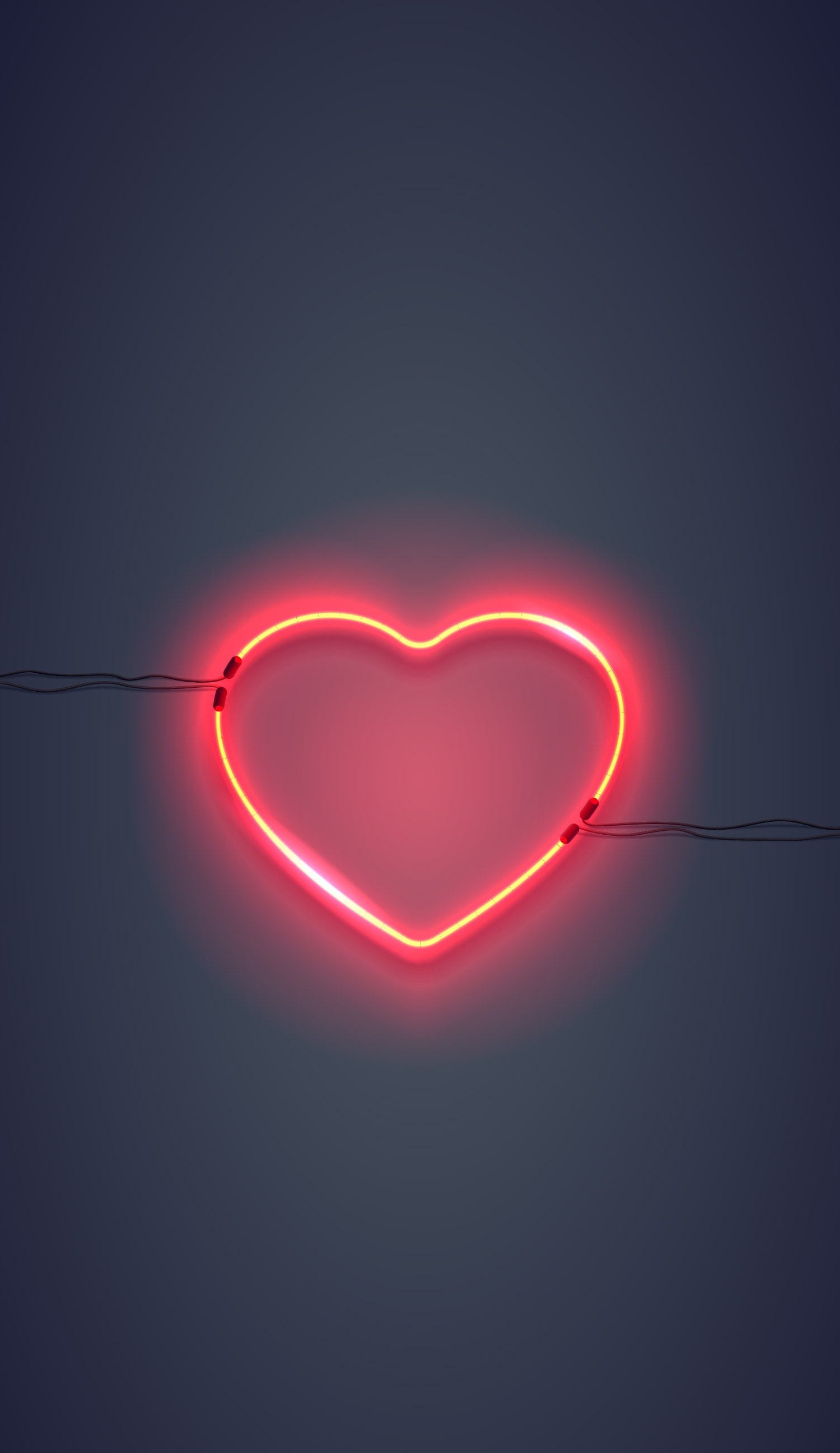 Graphic of a glowing heart